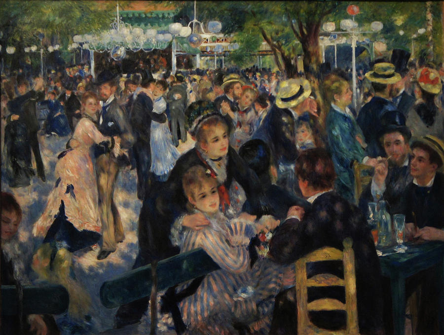 Impressionist Painting - Dance at Moulin de la Galette by Pierre Auguste Renoir