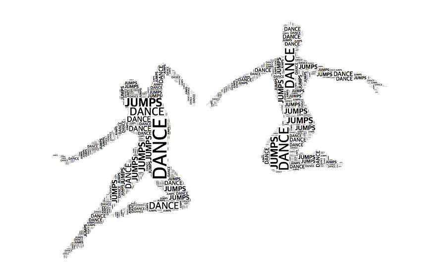 Typography Photograph - Dance Duo by Alice Gipson