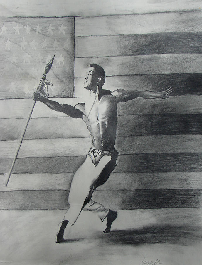 Dance For Freedom Drawing by Stacy V McClain