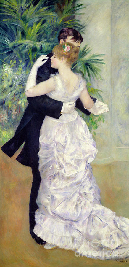 Dance Painting - Dance In The City by Pierre Auguste Renoir