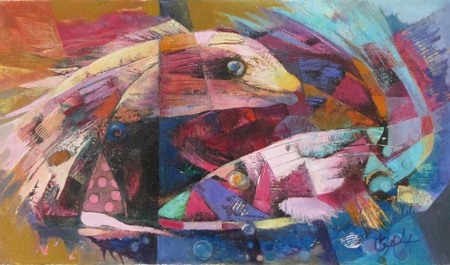 Fishes Painting - Dance In The Silence by GALA Koleva