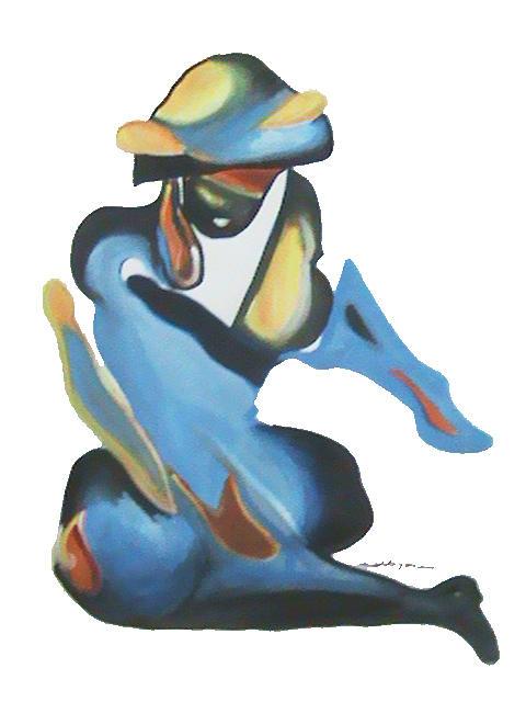Figurative Painting - Dance by Nagin Bangaru