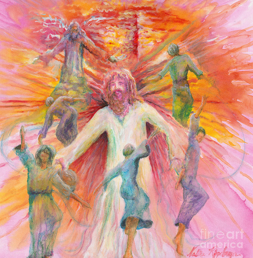 Jesus Painting - Dance of Freedom by Nadine Rippelmeyer
