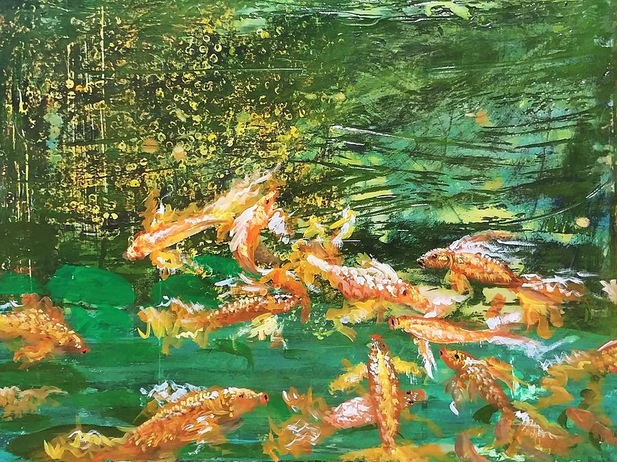 Dance Of Golden Angels Painting