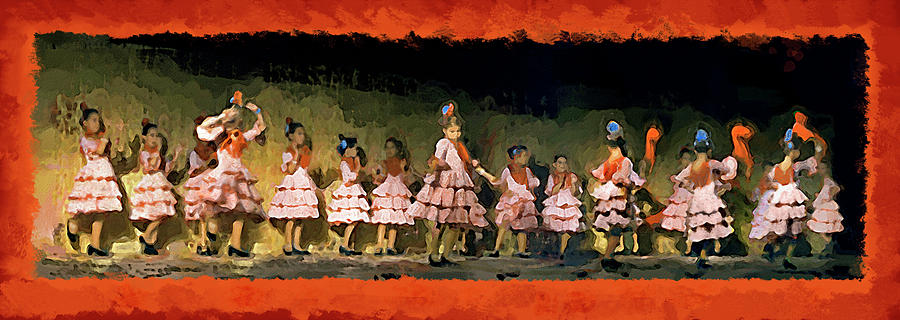 Casares Mixed Media - Dance Of La Ninos by Chris North