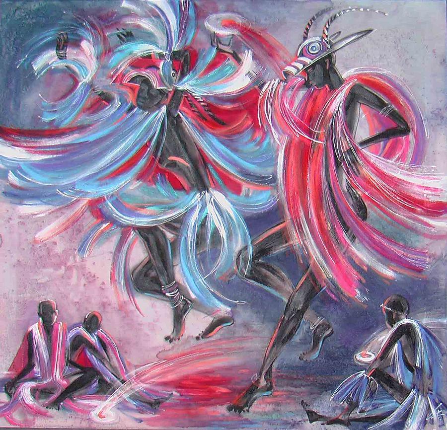 Impressionism Painting - dance Of Spirits by Chagorova Tanja