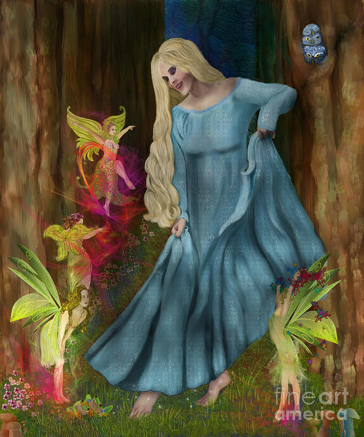 Fairy Digital Art - Dance Of The Fairies by Sydne Archambault