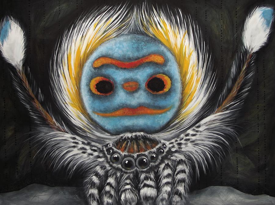 Artiste Expert peint à la Main Belle Animal Paon Peinture