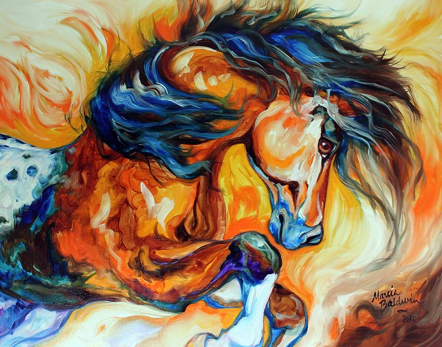 Horse Painting - Dance Of The Wild One by Marcia Baldwin