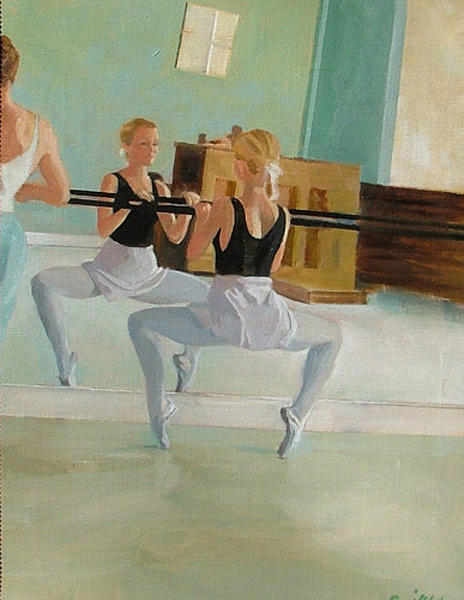 Dance Studio Painting by Neal Smith-Willow