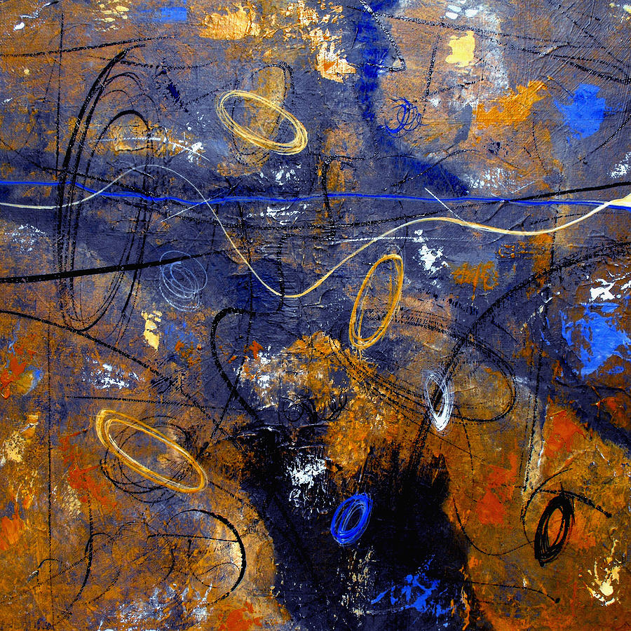 Abstract Painting - Dance The Night Away by Ruth Palmer