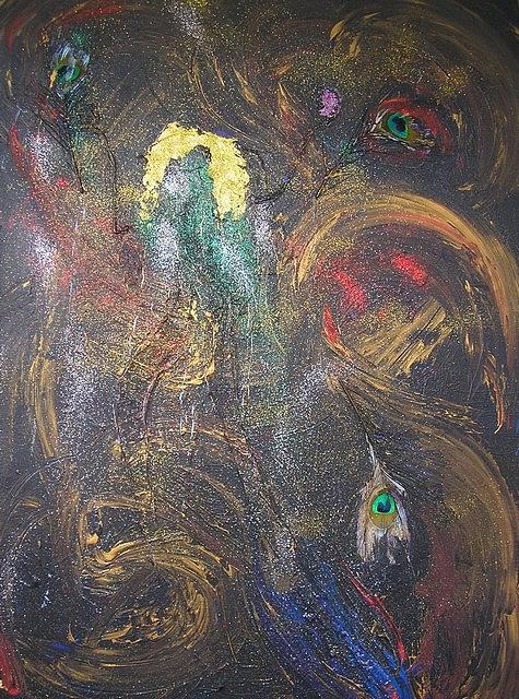 Abstract Painting - Dance To Hera by Korinna Kostaina