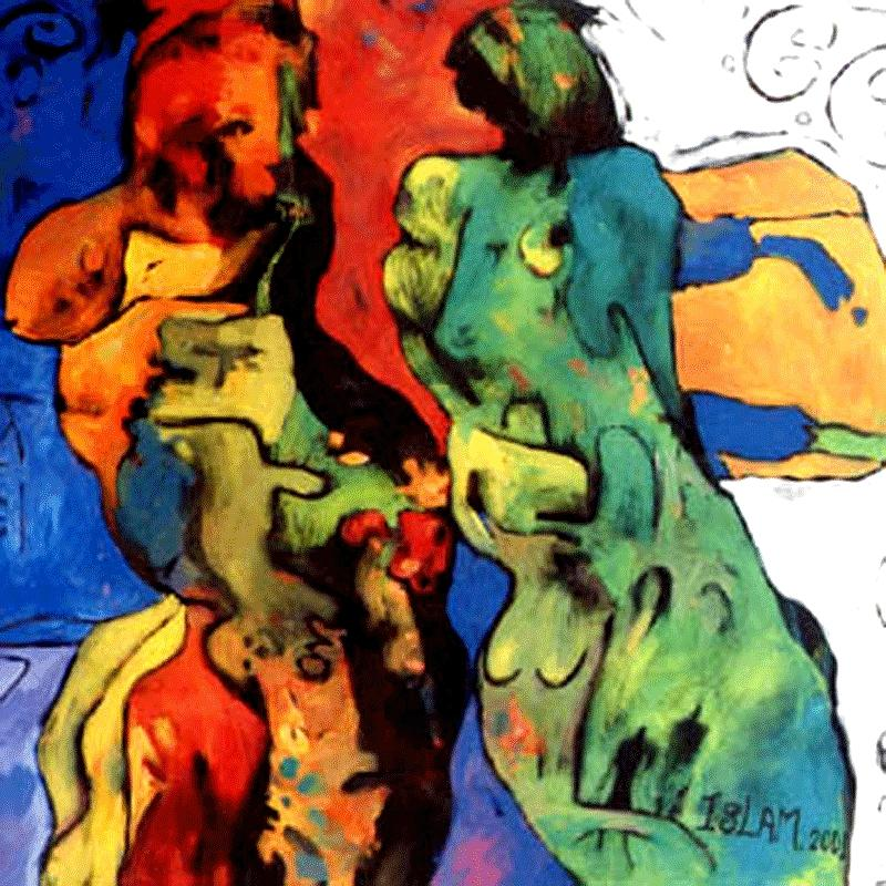 Abstract Painting - Dance With Me    by Islam Kamil
