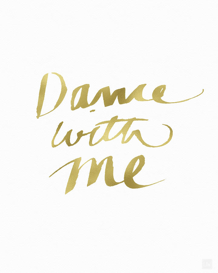 Dance Painting - Dance With Me Gold- Art By Linda Woods by Linda Woods