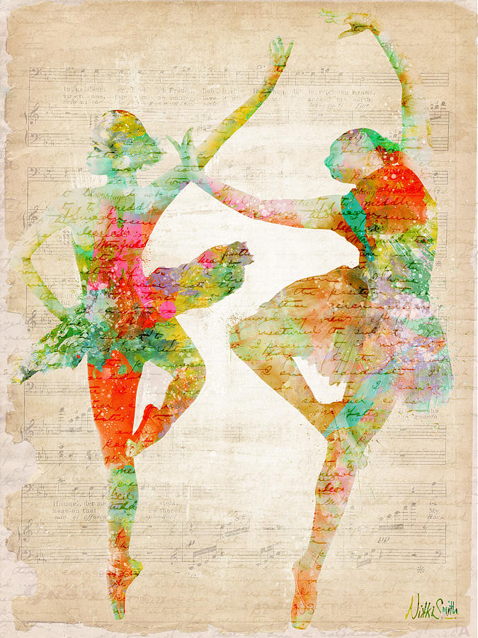 Ballet Digital Art - Dance With Me by Nikki Smith