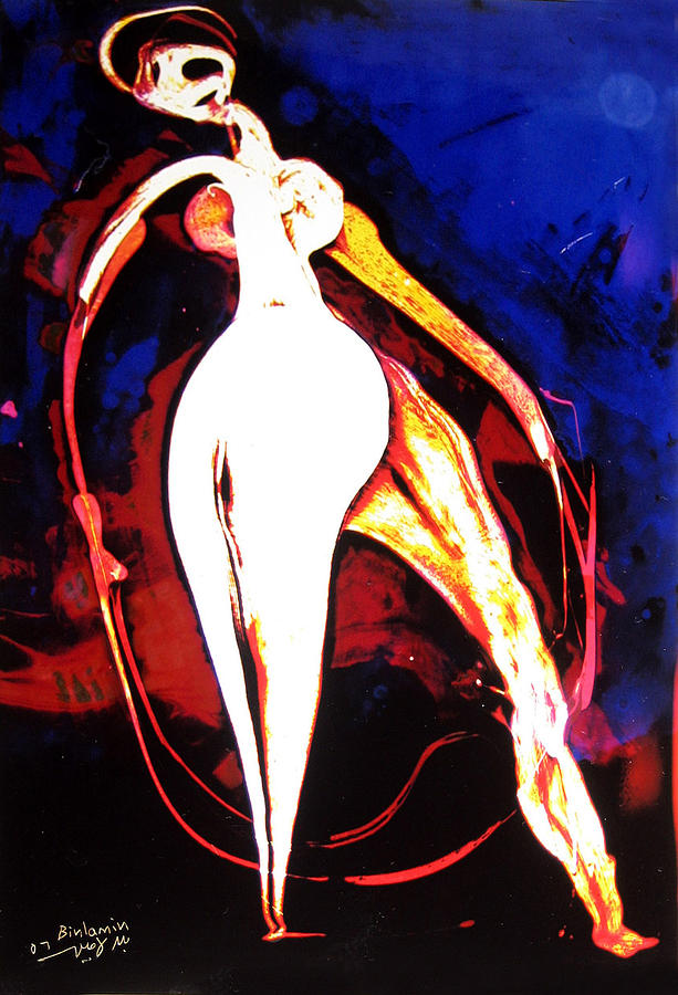 Beings Painting - Dance With Red Rope  by MBL Binlamin