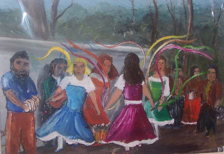 Dance With Us  Painting by Richard Finnell