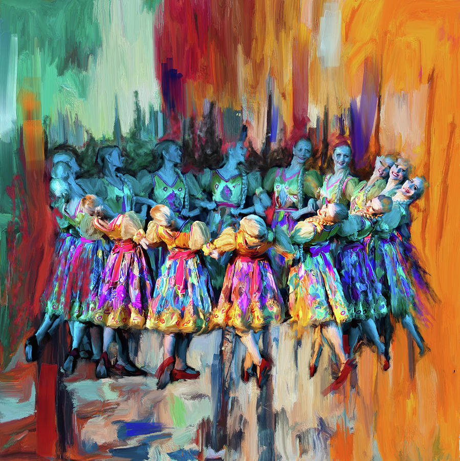Catf Painting - Dancer 263 2 by Mawra Tahreem