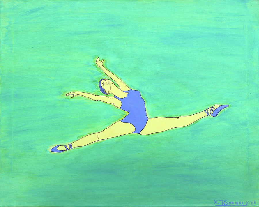 Dance Painting - Soaring Dancer By Ken Tesoriere by Lyric Artists