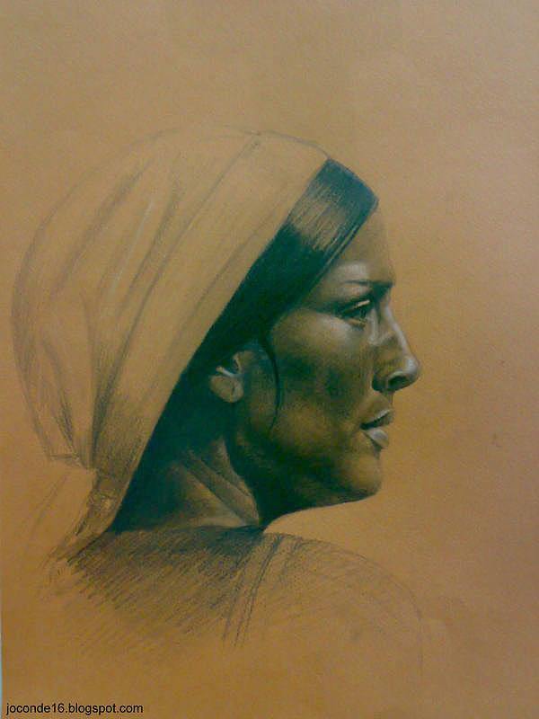 Portrait Drawing - Dancer by Amir Khalify