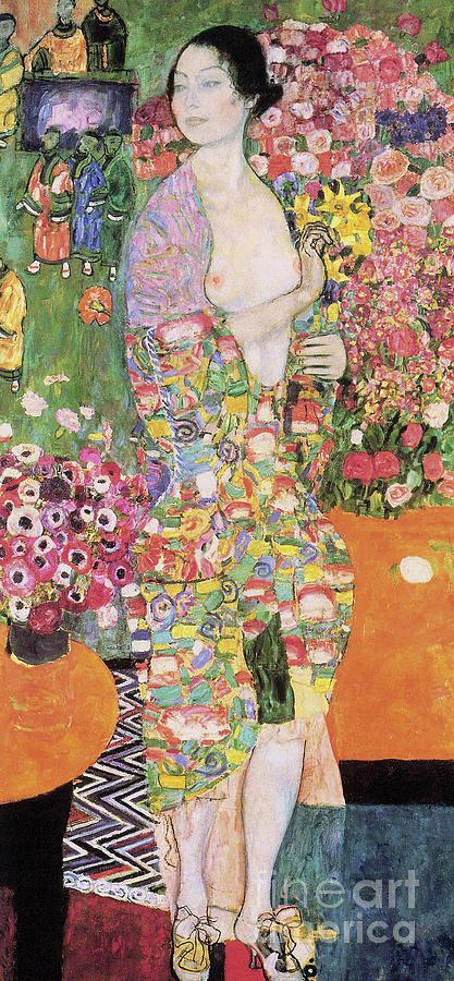 Klimt Painting - Dancer by Gustav Klimt