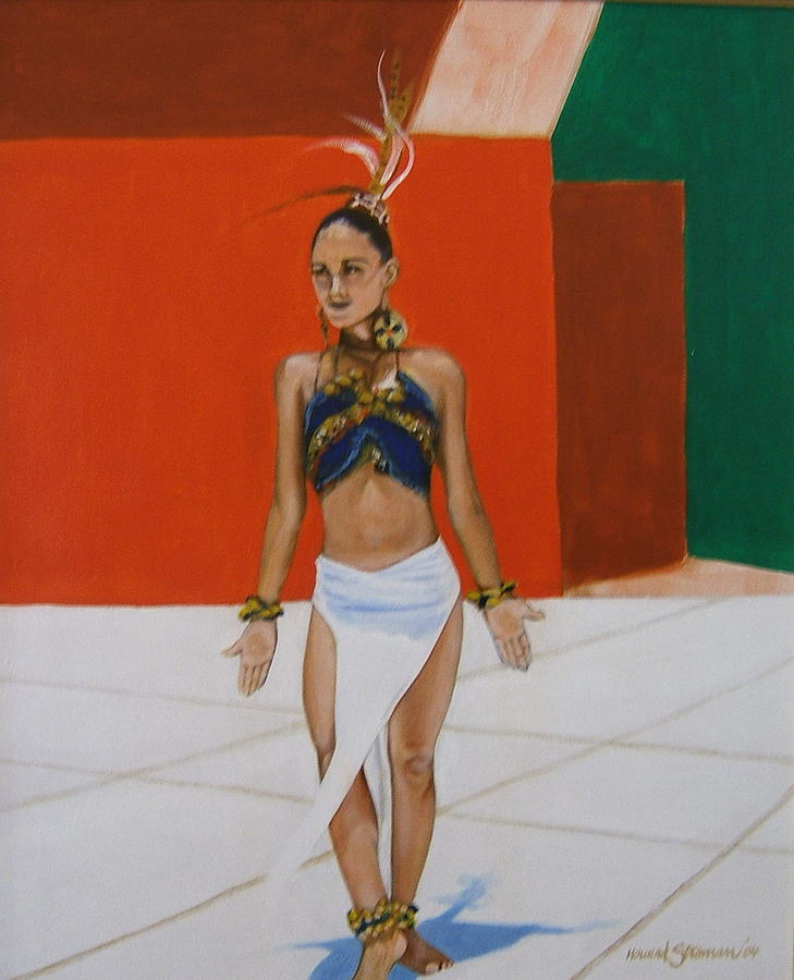 Dancer In Costume Painting by Howard Stroman