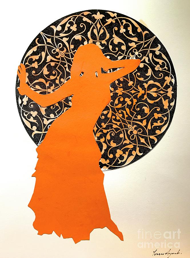 Dancer in Orange by Yvonne Ayoub