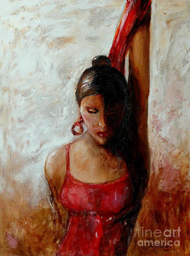 Dancer Painting - Dancer In Red by Jun Jamosmos