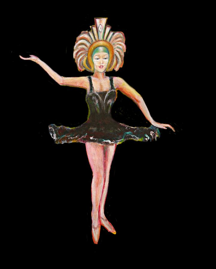 Dance Painting - Dancer in the Black Tutu by Tom Conway
