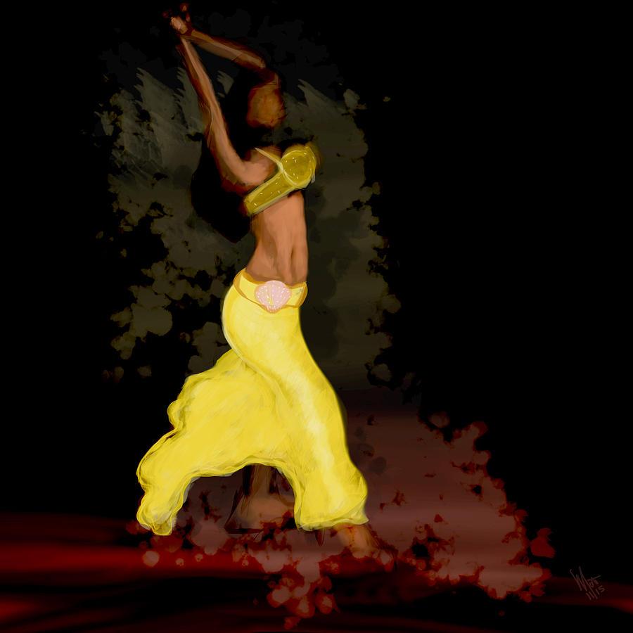Belly Dancer Digital Art - Dancer  by Mathieu Lalonde