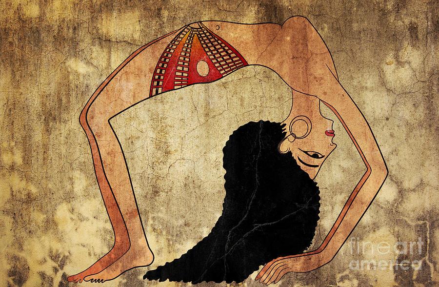 Dancer Mixed Media - dancer of Ancient Egypt by Michal Boubin