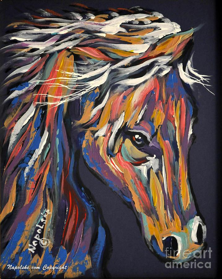 Dancer Painting by Napolske Artist by Barney Napolske