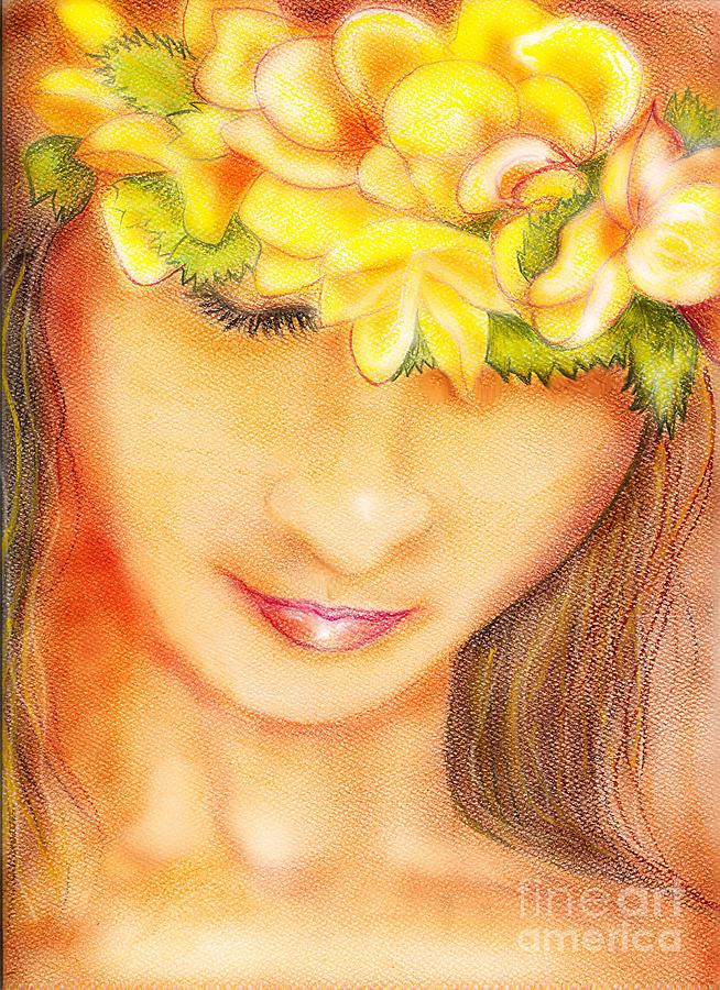 Hula Pastel - Dancer by Ruth Kongaika