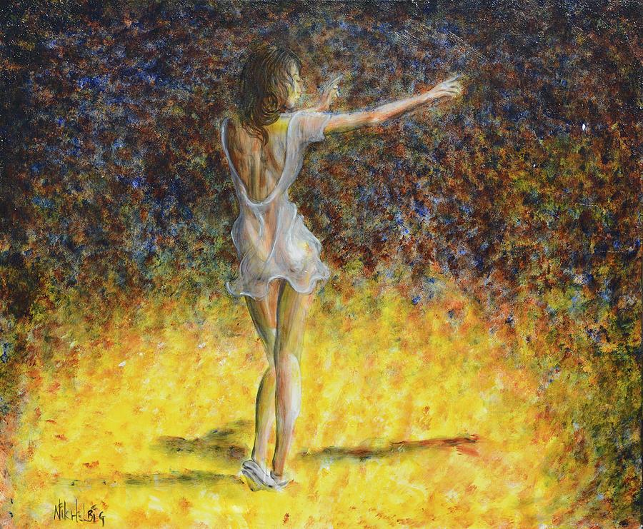 Dancer Painting - Dancer Spotlight by Nik Helbig