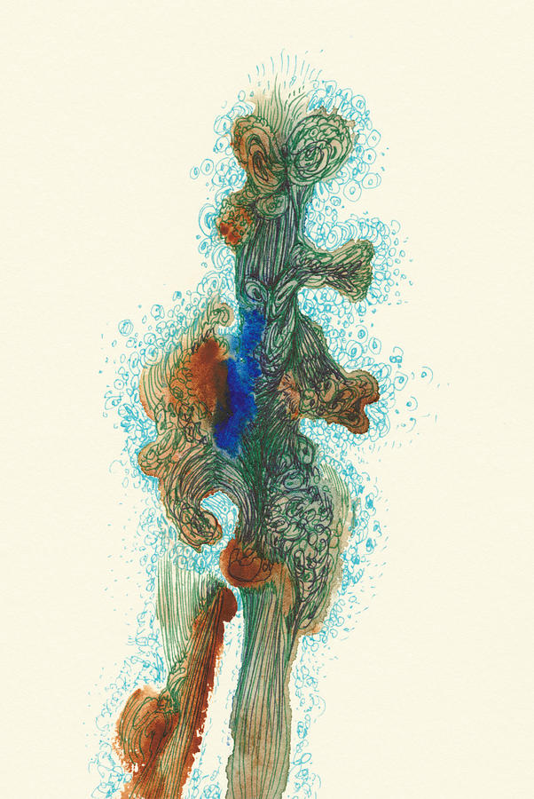 Dancer Drawing - Dancer- #ss14dw030 by Satomi Sugimoto