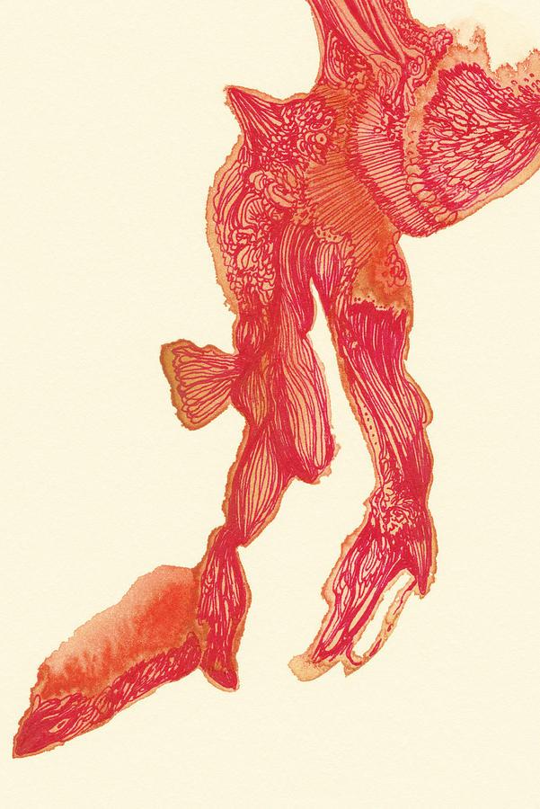 Leg Drawing - Dancer - #ss14dw041 by Satomi Sugimoto