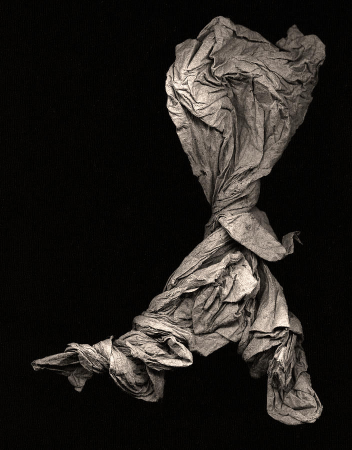 Origami Sculpture - Dancer Two by Peter Cutler
