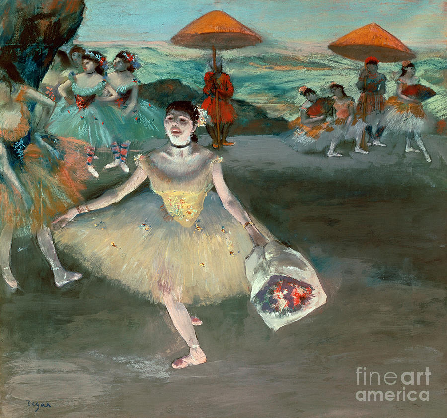 Dancer Painting - Dancer With Bouquet by Edgar Degas