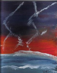 Lightning Painting - Dancers by Johnna Crider