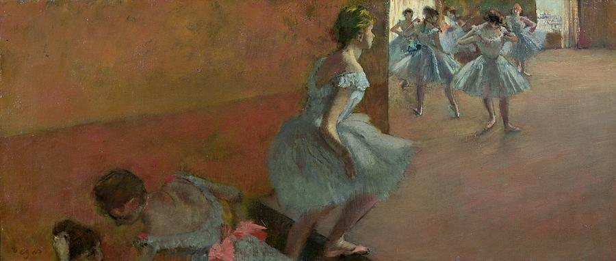 Dancers Painting - Dancers Ascending A Staircase by Edgar Degas