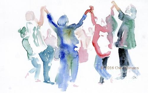 Worship Painting - Dancers by Cher Clemans