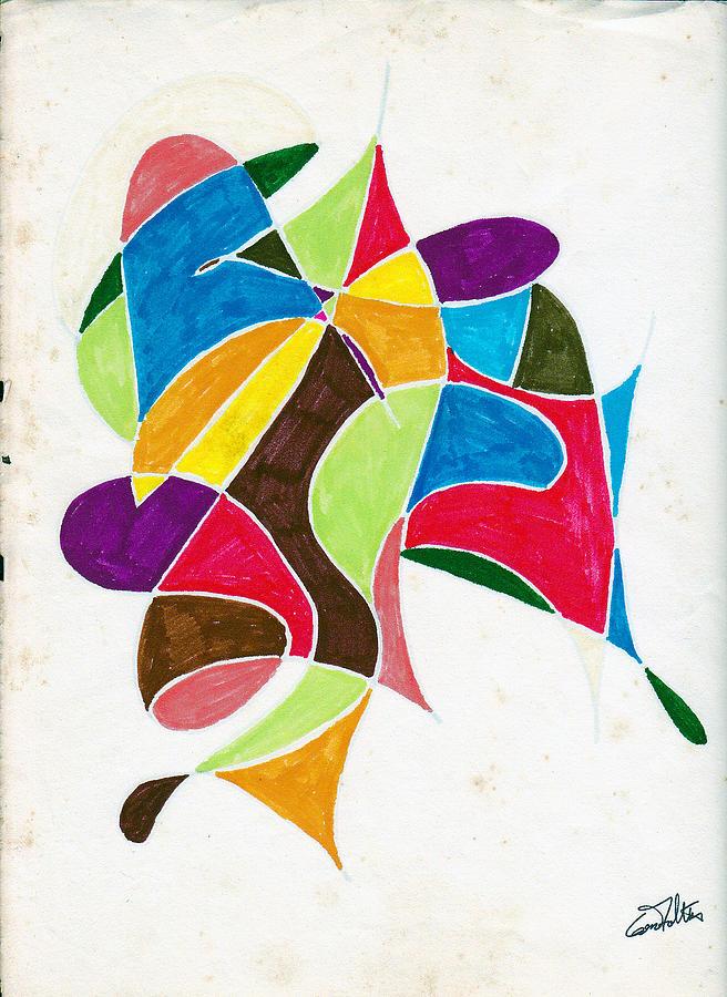 Pen Painting - Dancers by Eugene Foltuz