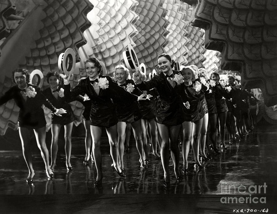 Dancers Folies Bergere De Paris 1935 Photograph
