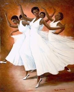 Dancers Painting - Dancers In Motion by Romeo Downer