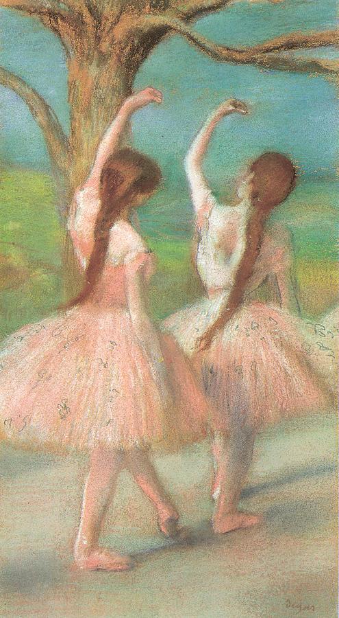 Dancer Pastel - Dancers In Pink by Edgar Degas