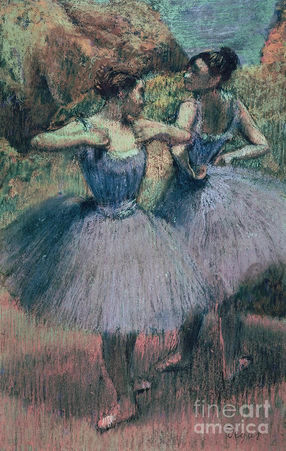 Purple Pastel - Dancers In Violet  by Edgar Degas