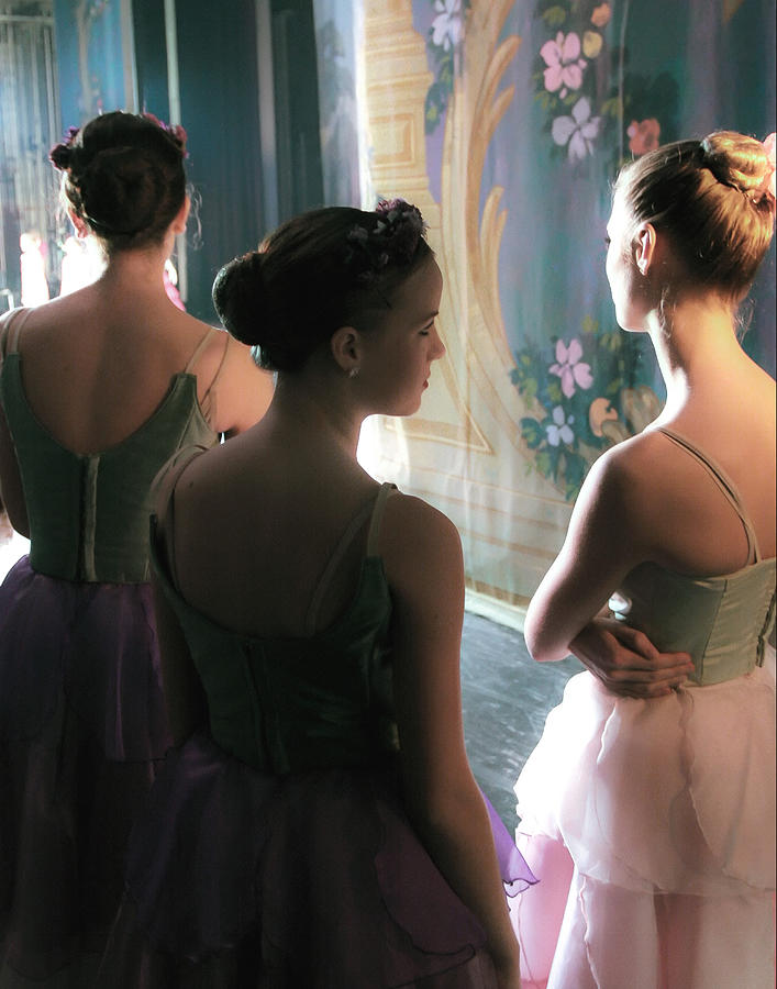 Backstage Photograph - Dancers by J Durr Wise
