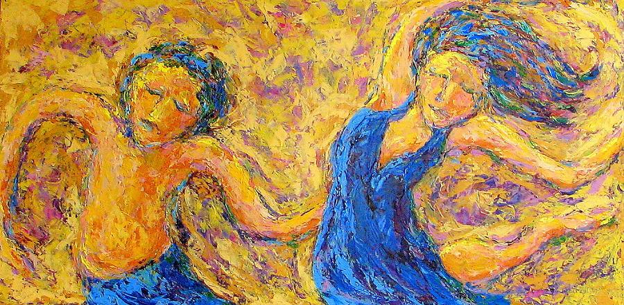 Dance Painting - Dancers by Kat Griffin