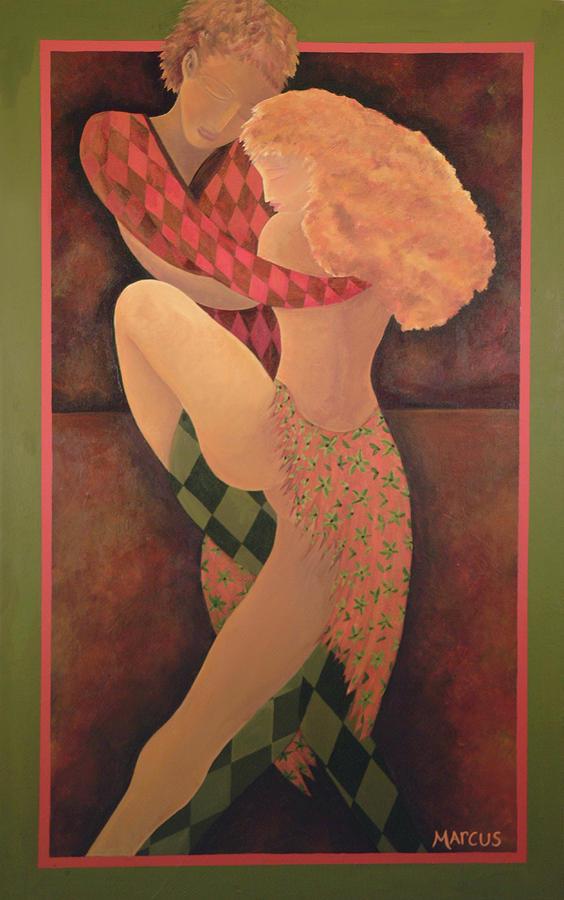 Dancers Painting - Dancers by Leslie Marcus
