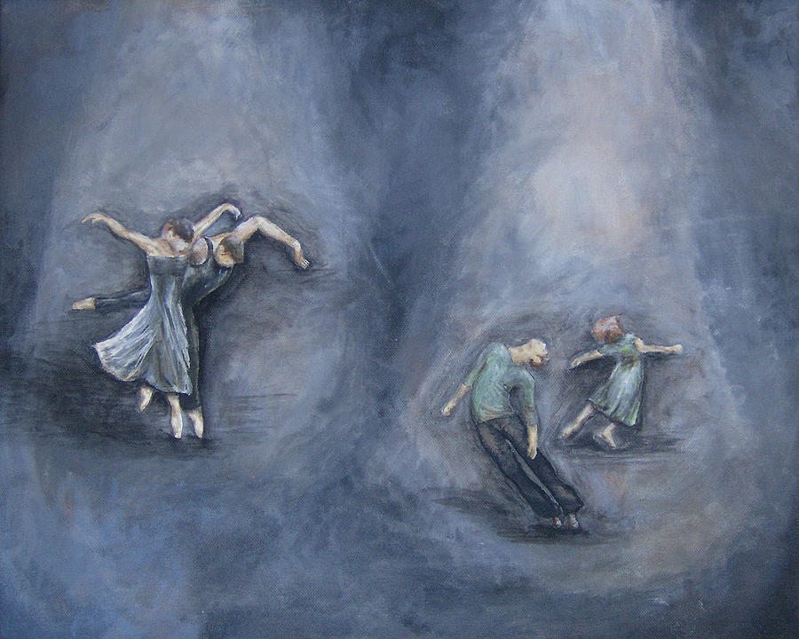 Dancing Painting - Dancers by Michelle Iglesias